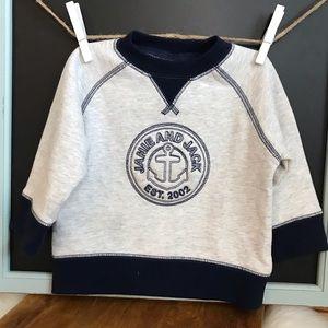 NWT Janie & Jack Baby Boy Sweatshirt 6/12 Months